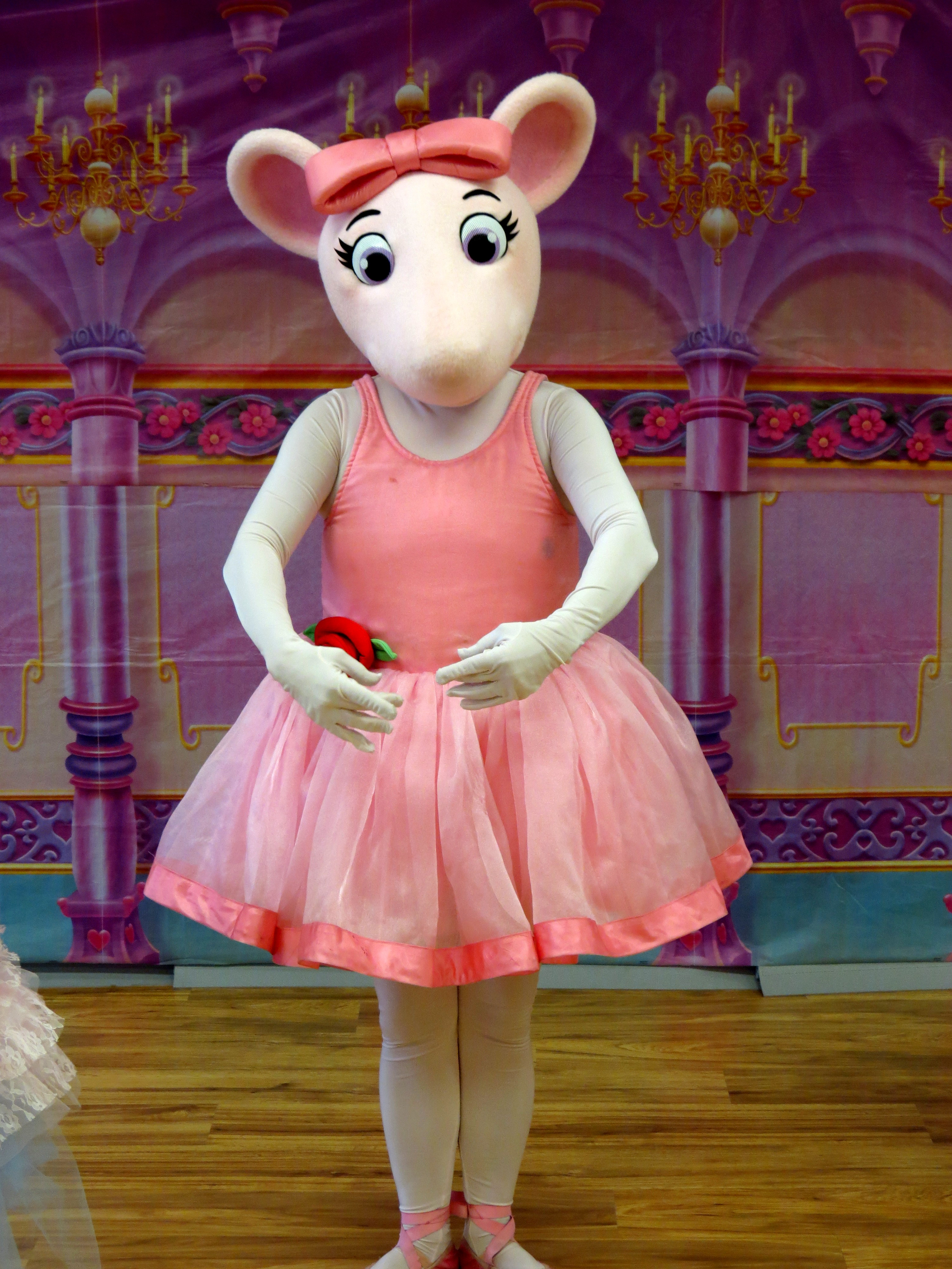 It is a graphic of Witty Angelina Ballerina Characters