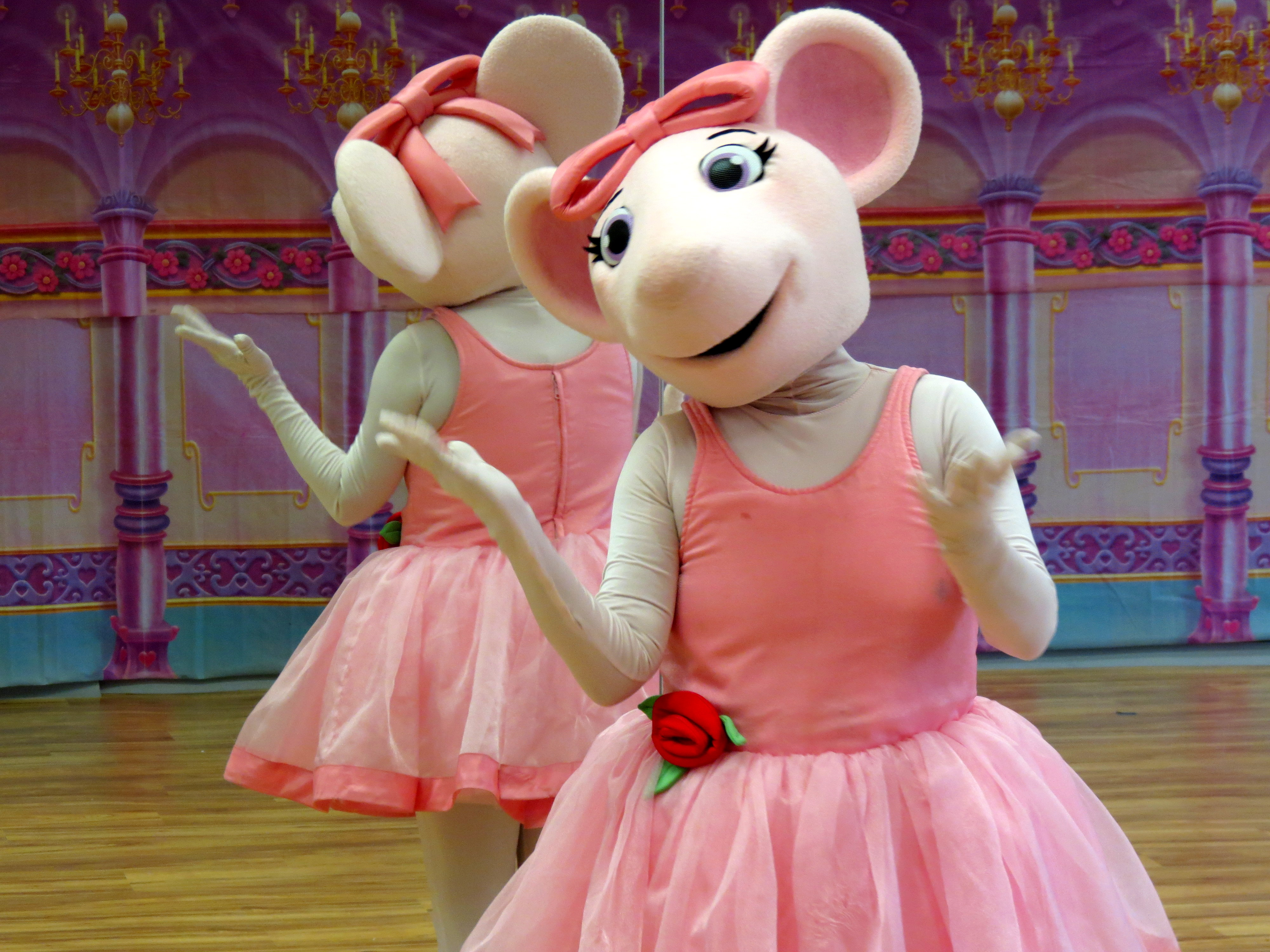 It is a graphic of Impertinent Angelina Ballerina Characters