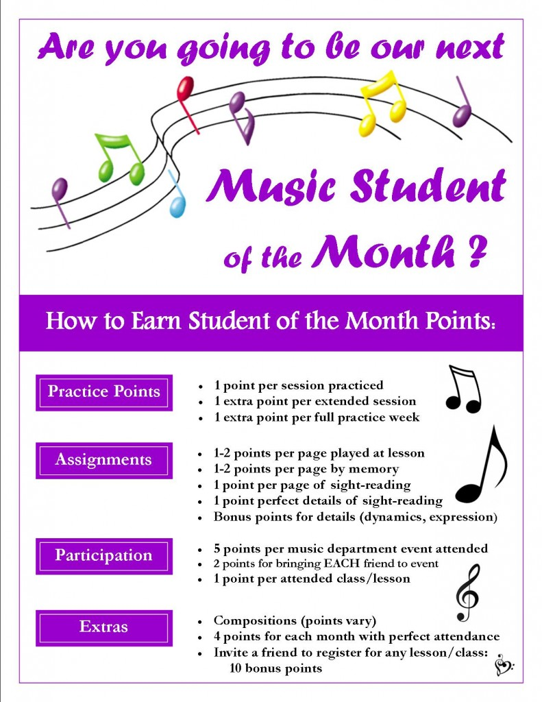 Student of the Month-Points Flyer-MUSIC