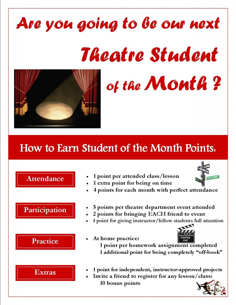 Student of the Month-Points Flyer-THEATRE