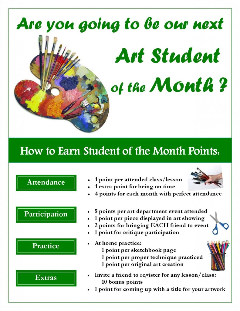 Student of the Month-Points Flyer-ART
